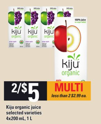 Kiju Organic Juice - 4x200 mL - 1 L