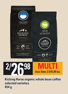Kicking Horse Organic Whole Bean Coffee - 454 G