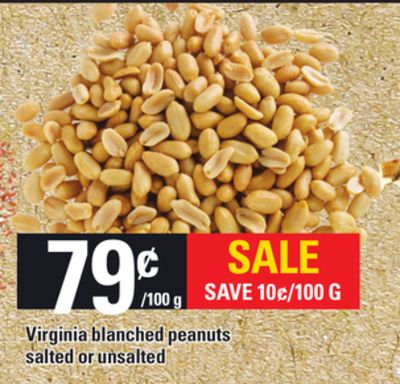 Virginia Blanched Peanuts Salted Or Unsalted