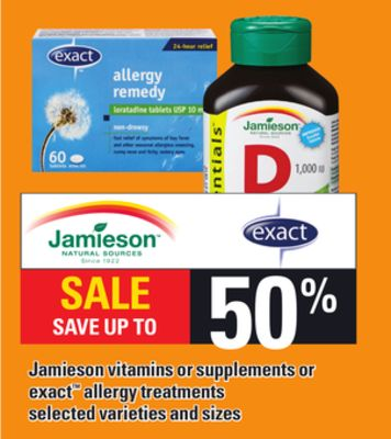 Jamieson Vitamins Or Supplements Or Exact Allergy Treatments