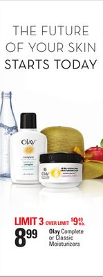 Olay Complete or Classic Moisturizers