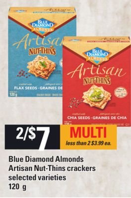 Blue Diamond Almonds Artisan Nut-thins Crackers - 120 G