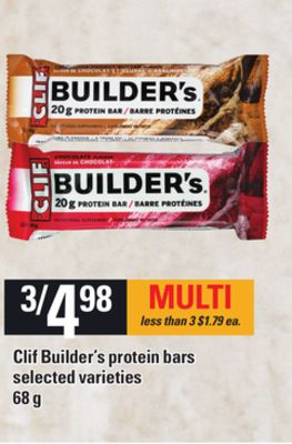 Clif Builder's Protein Bars - 68 g