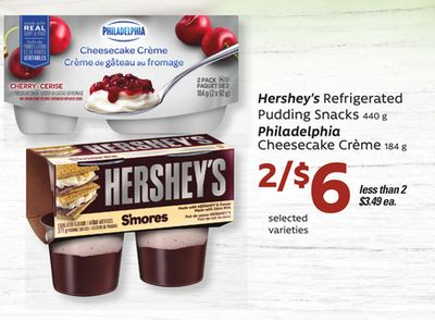 Hershey's Refrigerated Pudding Snacks - 440 g - Philadelphia Cheesecake Crème - 184 g