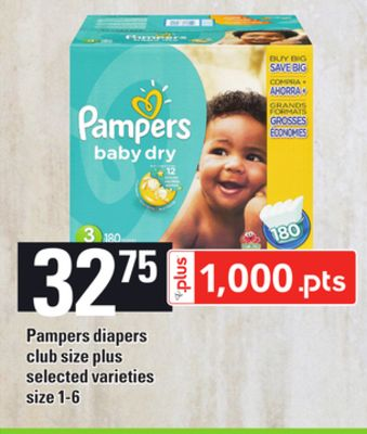 Pampers Diapers - Size 1-6