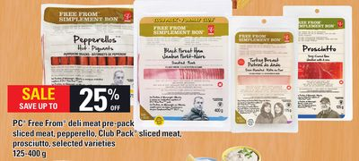 PC Free From Deli Meat Pre-pack Sliced Meat - Pepperello - Club Pack Sliced Meat - Prosciutto - 125-400 g