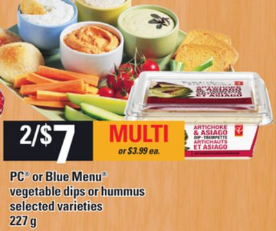 PC Or Blue Menu Vegetable Dips Or Hummus - 227 G