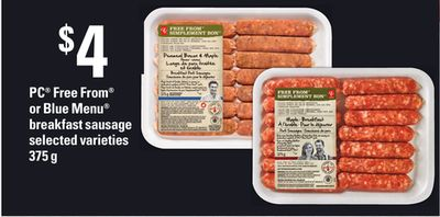 PC Free From Or Blue Menu Breakfast Sausage - 375 G