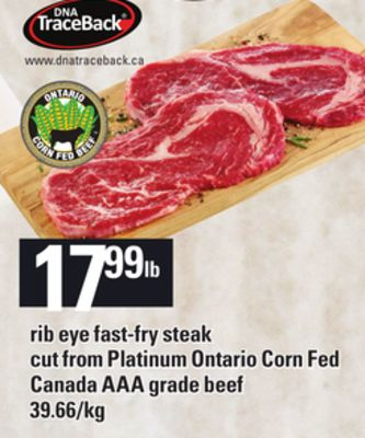 Rib Eye Fast-fry Steak