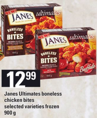 Janes Ultimates Boneless Chicken Bites - 900 g