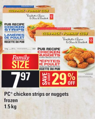 PC Chicken Strips Or Nuggets - 1.5 Kg