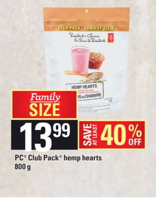 PC Club Pack Hemp Hearts - 800 g