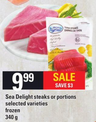 Sea Delight Steaks or Portions - 340 g