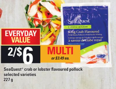 Seaquest Crab Or Lobster Flavoured Pollock - 227 G