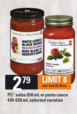 PC Salsa - 650 Ml Or Pasta Sauce - 410-650 Ml