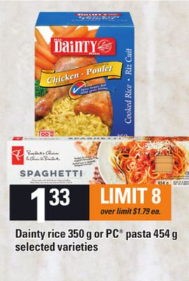 Dainty Rice - 350 G Or PC Pasta - 454 G