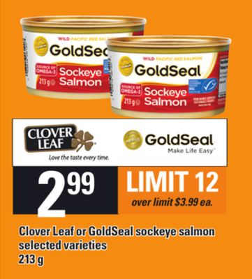 Clover Leaf Or Goldseal Sockeye Salmon - 213 g