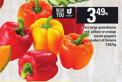 Extra Large Greenhouse Red - Yellow Or Orange Sweet Peppers