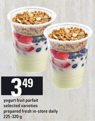 Yogurt Fruit Parfait - 225-320 g