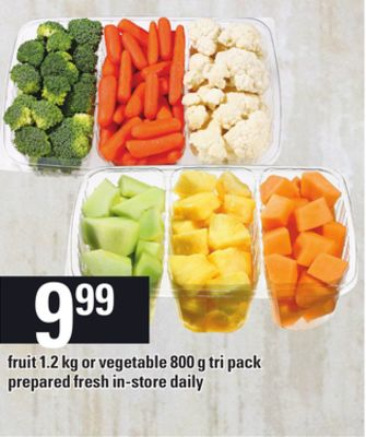 Fruit 1.2 Kg Or Vegetable - 800 G Tri Pack