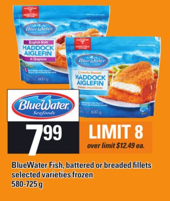 Bluewater Fish - Battered Or Breaded Fillets - 580-725 g