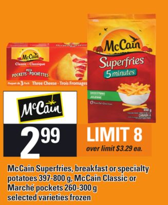 Mccain Superfries - Breakfast Or Specialty Potatoes - 397-800 G - Mccain Classic Or Marché Pockets - 260-300 G