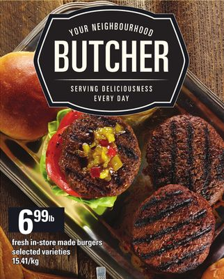 Fresh In-store Made Burgers