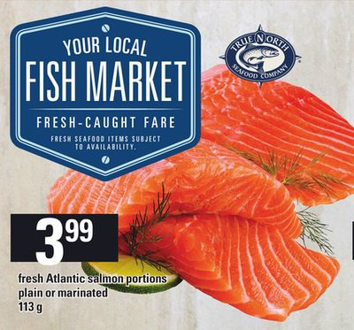 Fresh Atlantic Salmon Portions Plain Or Marinated - 113 g