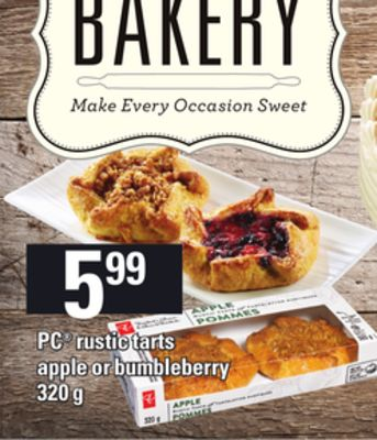 PC Rustic Tarts Apple Or Bumbleberry - 320 g