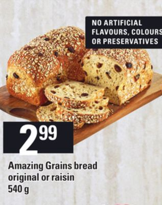 Amazing Grains Bread Original Or Raisin - 540 G
