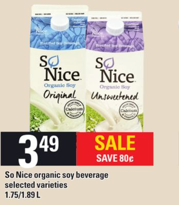 So Nice Organic Soy Beverage - 1.75/1.89 L