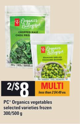 PC Organics Vegetables - 300/500 g