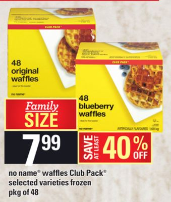 No Name Waffles Club Pack - Pkg of 48