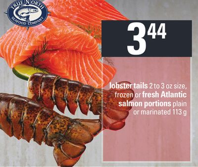 Lobster Tails 2 To 3 Oz Size - Frozen Or Fresh Atlantic Salmon Portions Plain Or Marinated 113 G