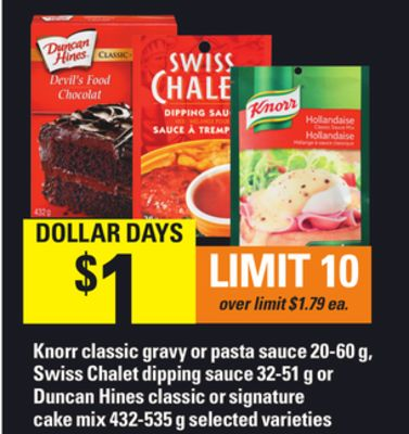 Knorr Classic Gravy Or Pasta Sauce - 20-60 g - Swiss Chalet Dipping Sauce - 32-51 g Or Duncan Hines Classic Or Signature Cake Mix - 432-535 g