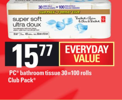 PC Bathroom Tissue - 30=100 Rolls
