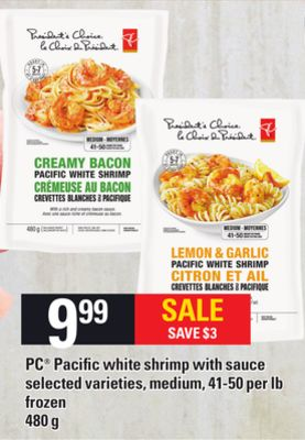 PC Pacific White Shrimp With Sauce - 41-50 Per Lb - 480 g