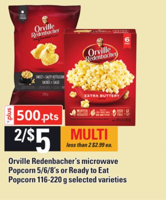 Orville Redenbacher's Microwave Popcorn - 5/6/8's Or Ready To Eat Popcorn - 116-220 G