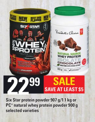 Six Star Protein Powder 907 G/1.1 Kg Or PC Natural Whey Protein Powder 900 G
