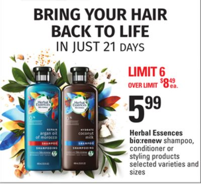 Herbal Essences Bio:renew Shampoo - Conditioner Or Styling Products