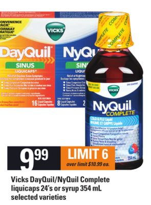 Vicks Dayquil/nyquil Complete Liquicaps - 24's Or Syrup 354 Ml