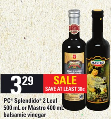 PC Splendido 2 Leaf 500 Ml Or Mastro 400 Ml Balsamic Vinegar