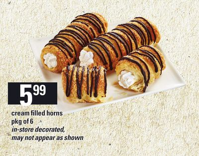 Cream Filled Horns - Pkg Of 6