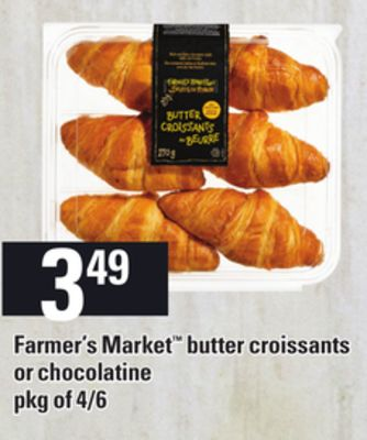 Farmer's Market Butter Croissants Or Chocolatine.pkg of 4/6
