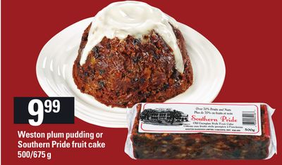 Weston Plum Pudding or Southern Pride Fruit Cake - 500/675 g