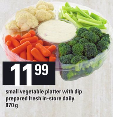 Small Vegetable Platter With Dip - 870 g