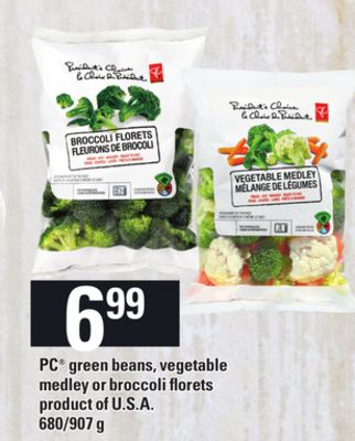PC Green Beans - Vegetable Medley Or Broccoli Florets