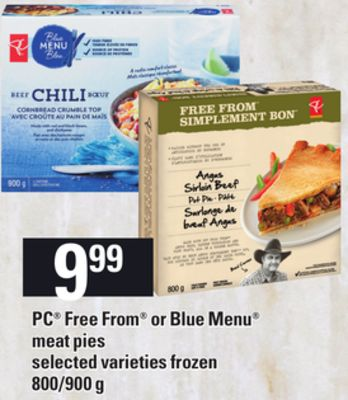 PC Free From Or Blue Menu Meat Pies - 800/900 g