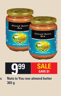Nuts To You Raw Almond Butter - 365 g
