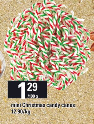 Mini Christmas Candy Canes